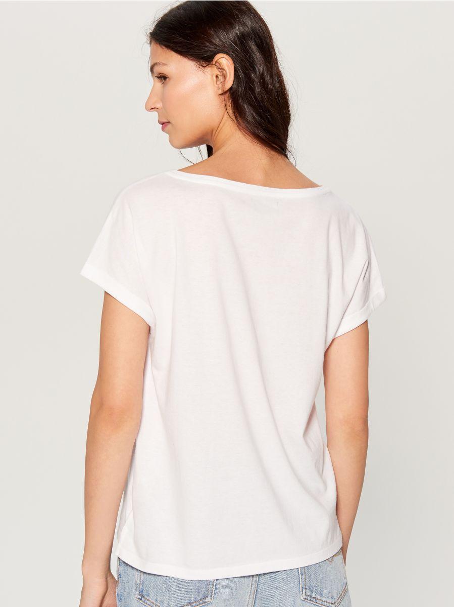 T-krekls ar apdruku - balts - VU865-00X - Mohito - 3