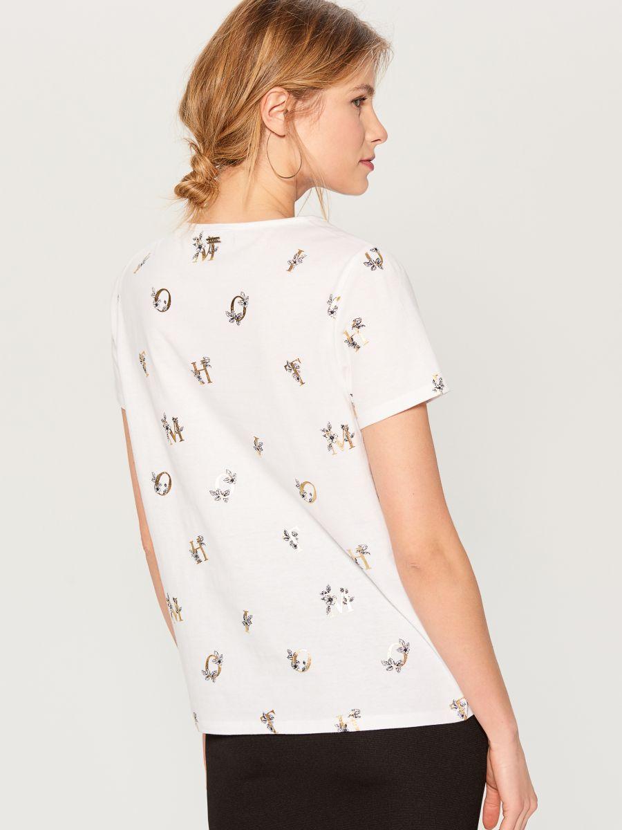 T-krekls ar apdruku - balts - VU866-00X - Mohito - 4