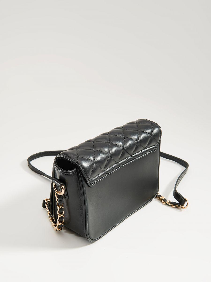 Stepēta soma ar plecu siksnu - melns - VV538-99X - Mohito - 2