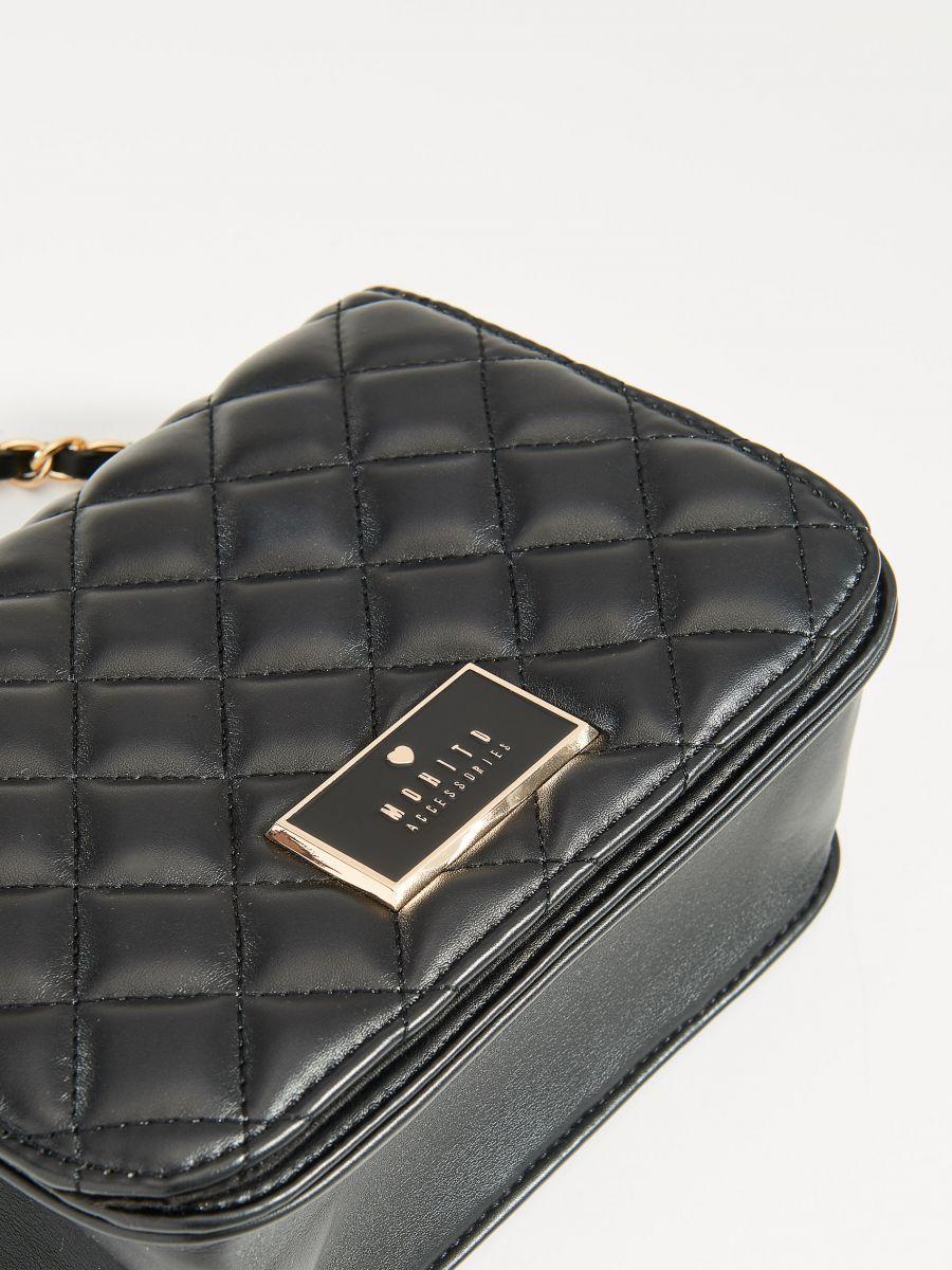 Stepēta soma ar plecu siksnu - melns - VV538-99X - Mohito - 3