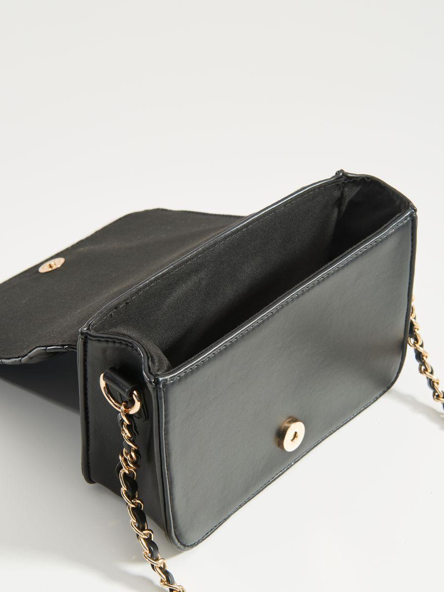 Stepēta soma ar plecu siksnu - melns - VV538-99X - Mohito - 4