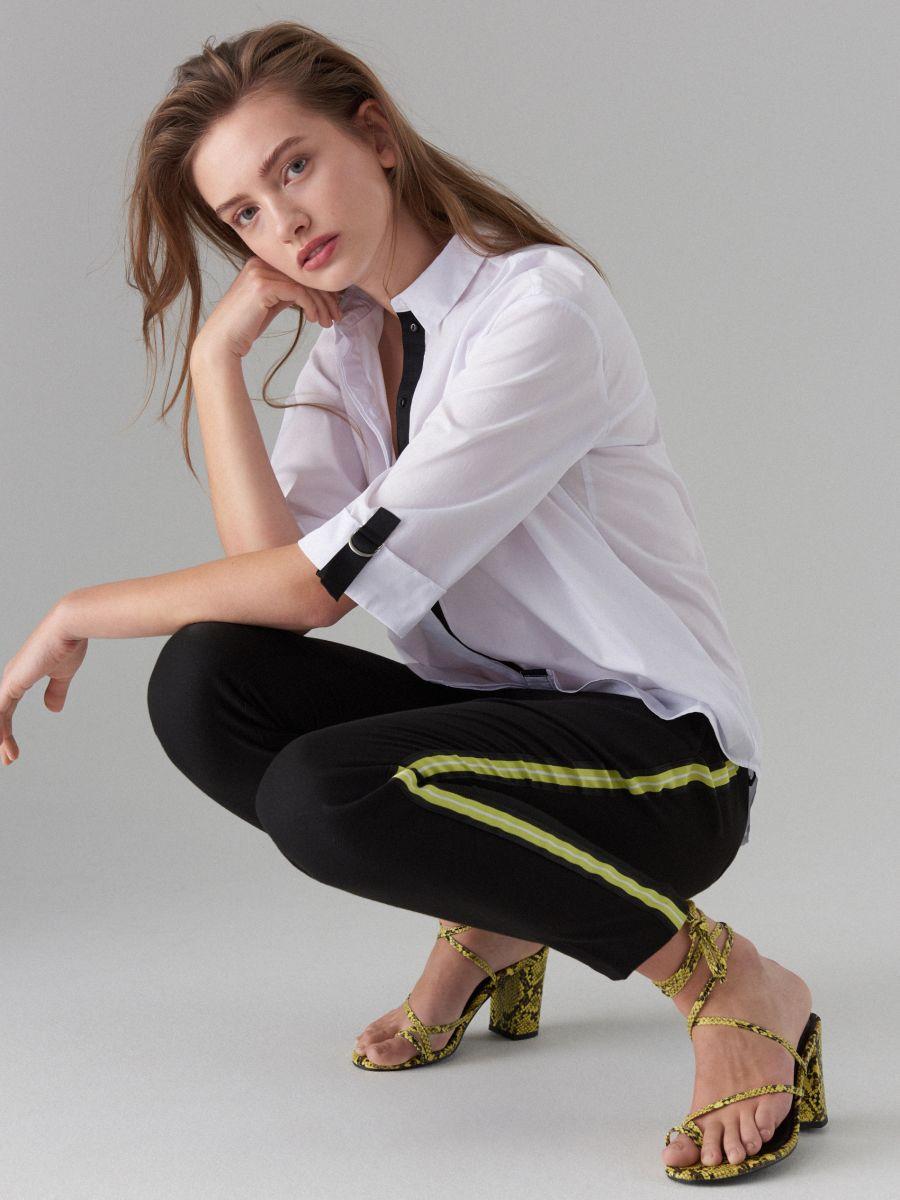 Oversize krekls ar lentītes rotājumu - balts - VV620-00X - Mohito - 4