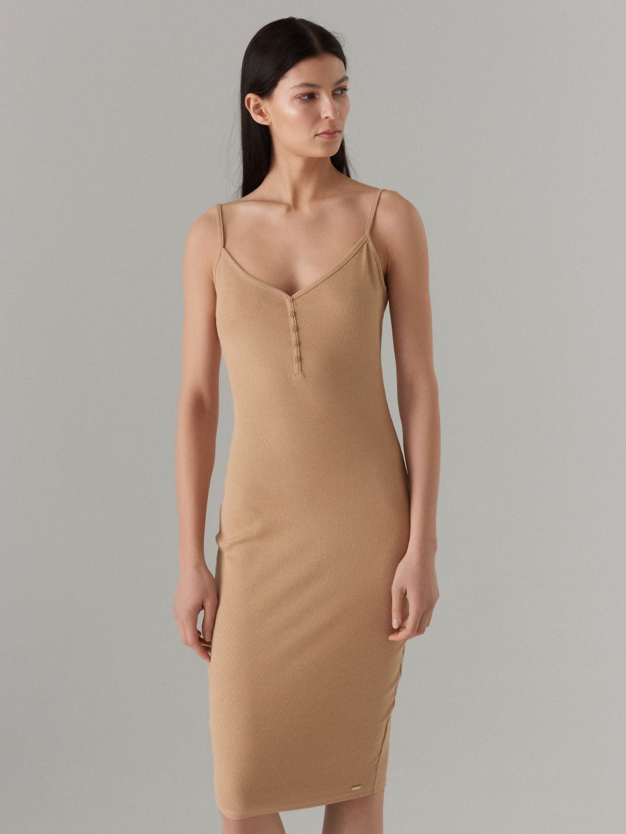 LADIES` DRESS - ziloņkaula - VV972-02X - Mohito - 3