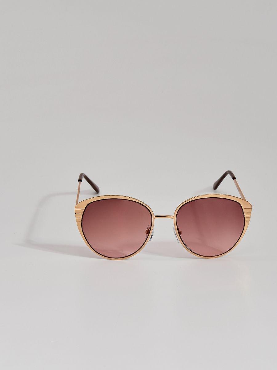 Okulary przeciwsłoneczne w stylu retro, MOHITO, VW486 GLD