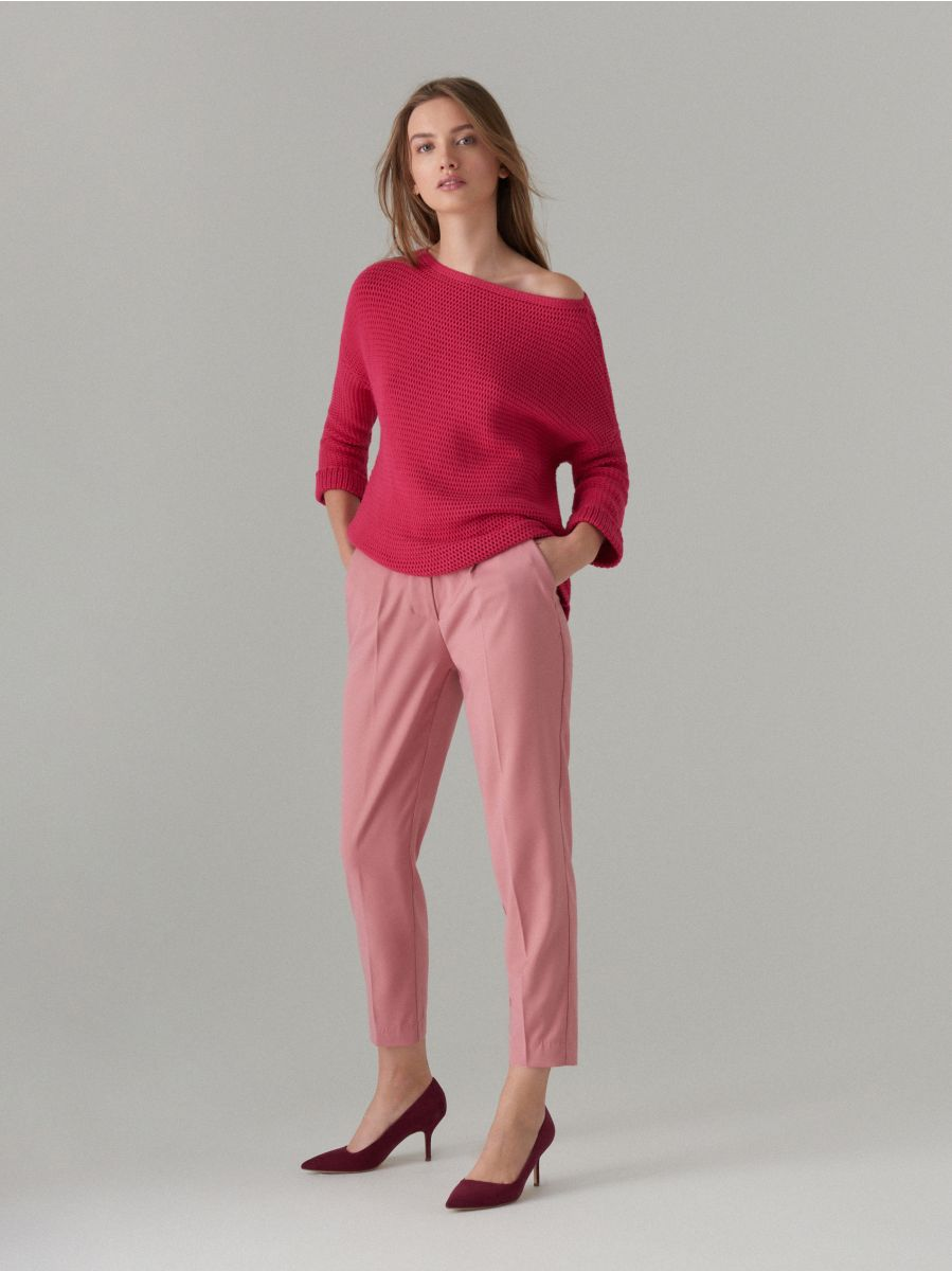 Adīts oversize džemperis - rozā - VZ808-42X - Mohito - 2