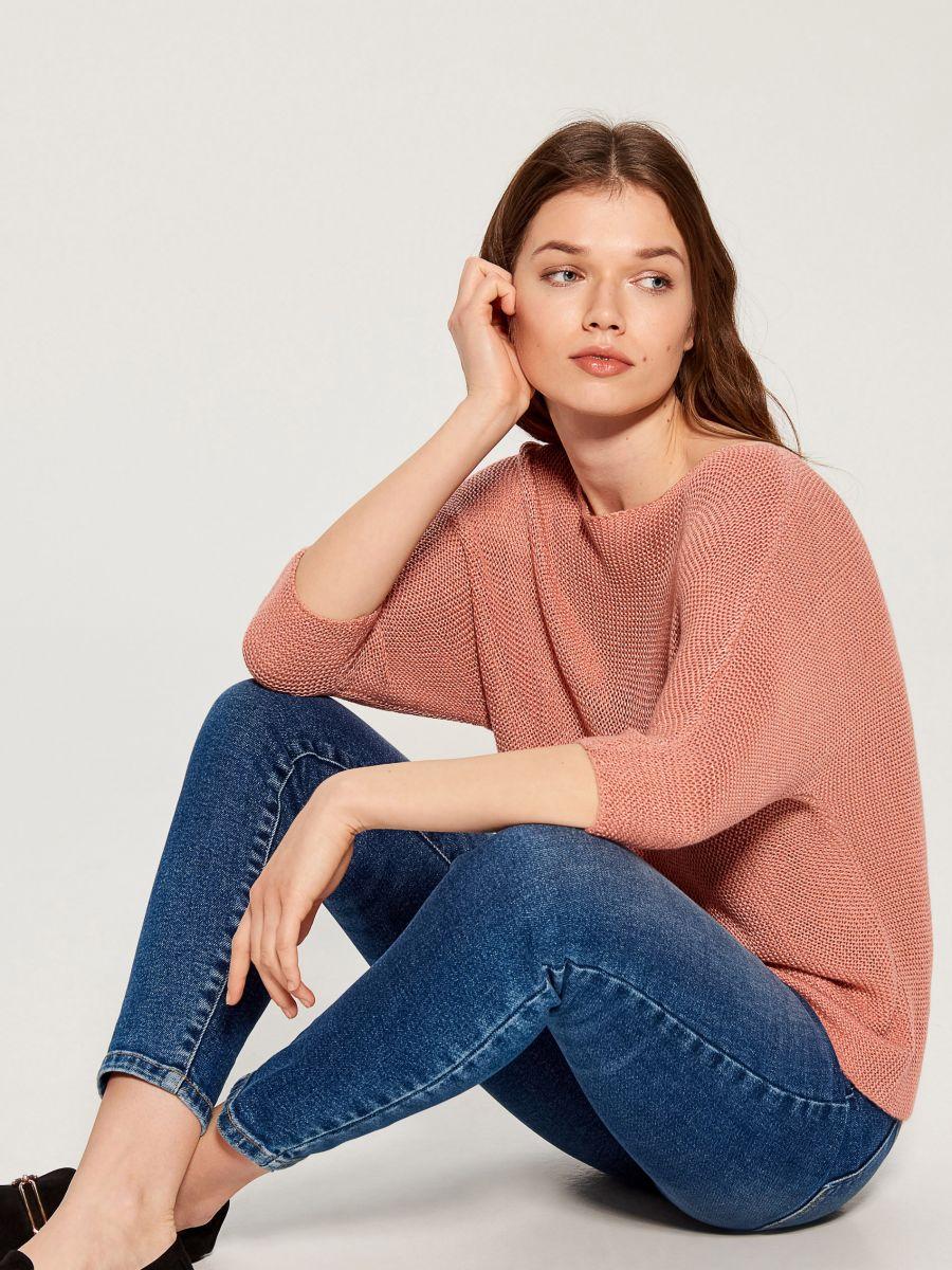Džemperis ar trīsceturtdaļgaruma piedurknēm - rozā - VZ809-03X - Mohito - 1