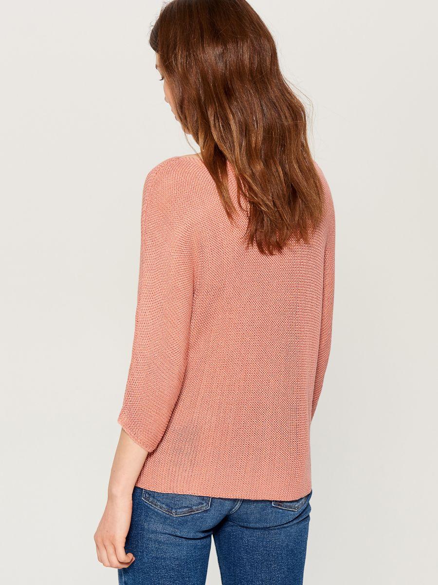 Džemperis ar trīsceturtdaļgaruma piedurknēm - rozā - VZ809-03X - Mohito - 4