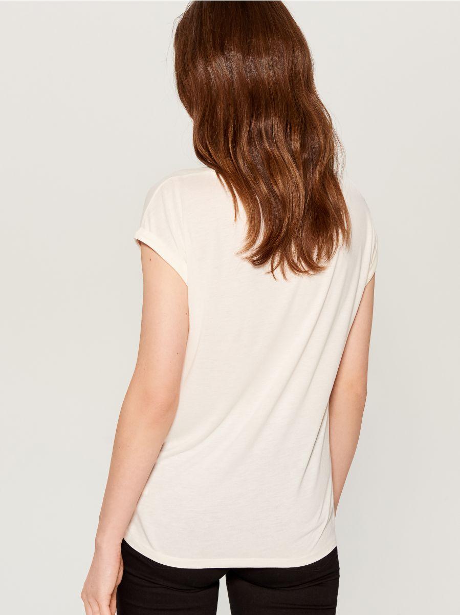 Krekls ar dzīvnieku motīvu - balts - VZ840-00X - Mohito - 3