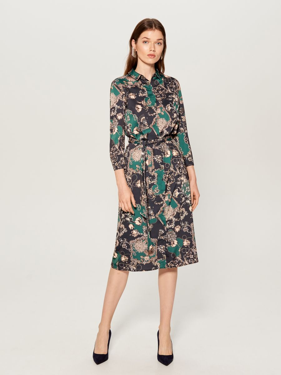 Printed shirt dress - grün - WB268-79P - Mohito - 3