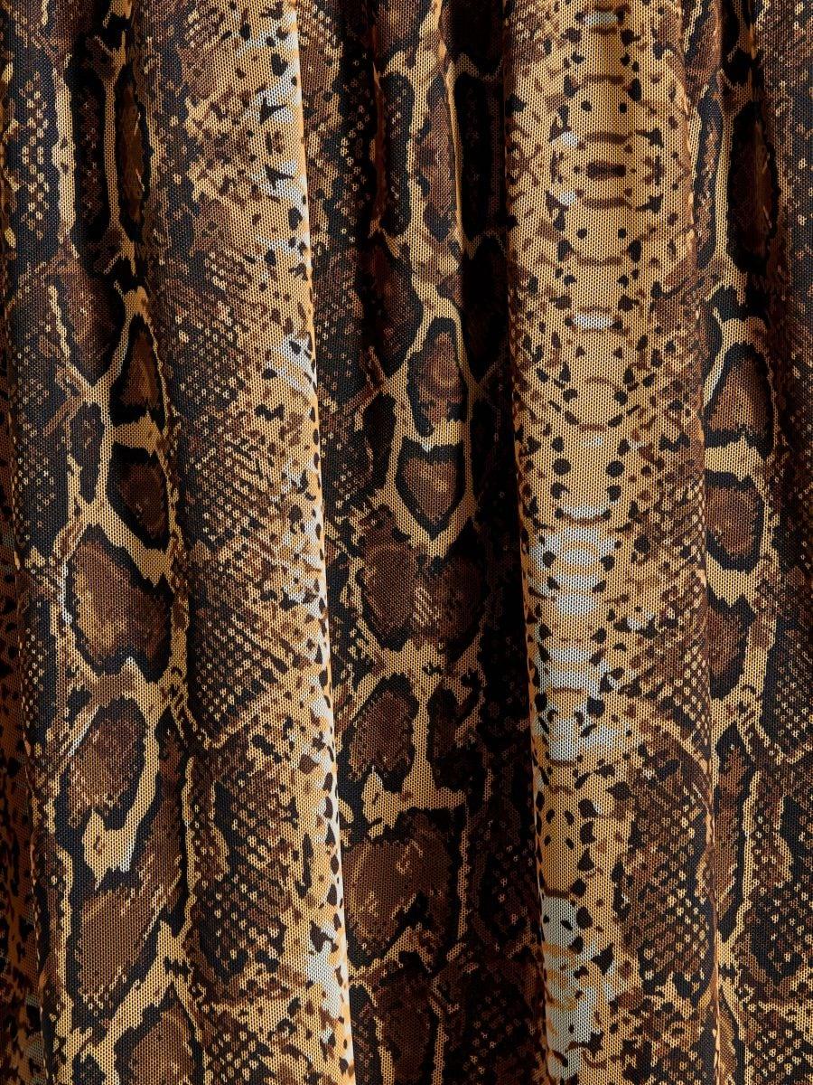 Kleita ar čūskādas apdruku - bēšs - WB306-11P - Mohito - 5