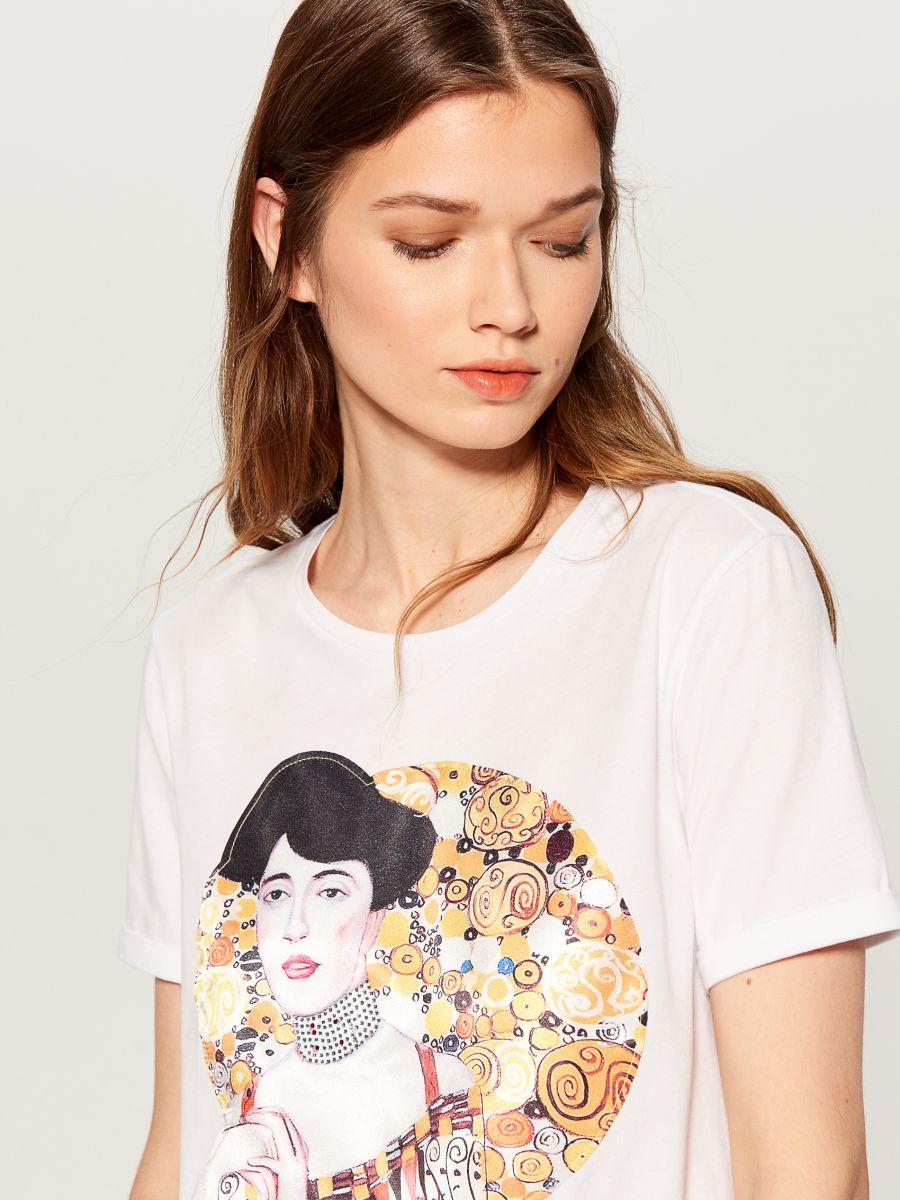 T-krekls ar apdruku - balts - WC610-00X - Mohito - 2