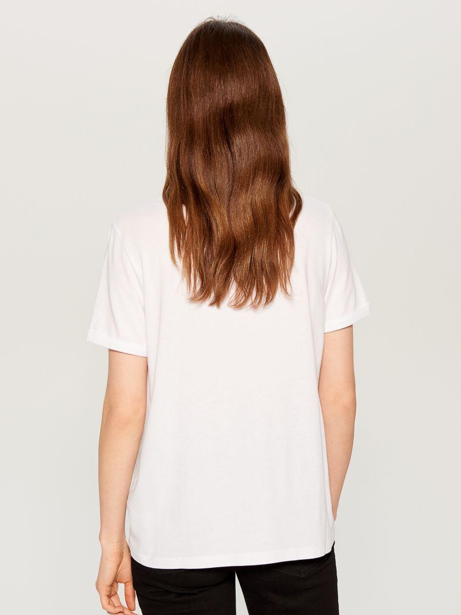 T-krekls ar apdruku - balts - WC610-00X - Mohito - 3
