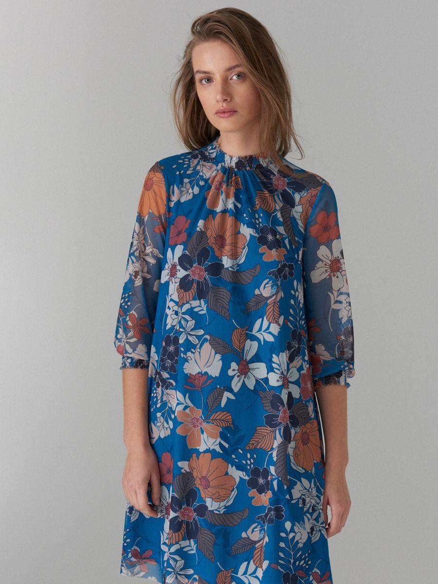 Kleita ar puķainu apdruku - zils - WF483-50P - Mohito - 3