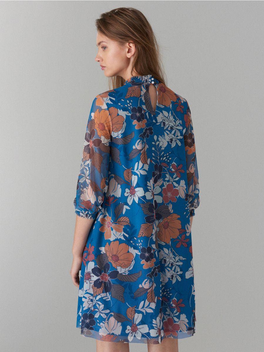 Kleita ar puķainu apdruku - zils - WF483-50P - Mohito - 5