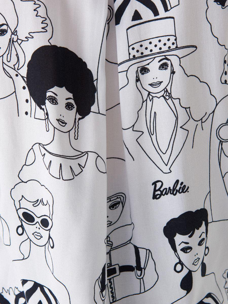 Krekls ar apdruku Barbie  - balts - WG503-00P - Mohito - 6