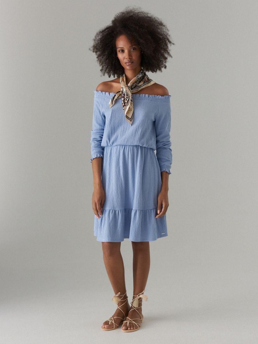 Sukienka hiszpanka z długimi rękawami, MOHITO, WI121 05X