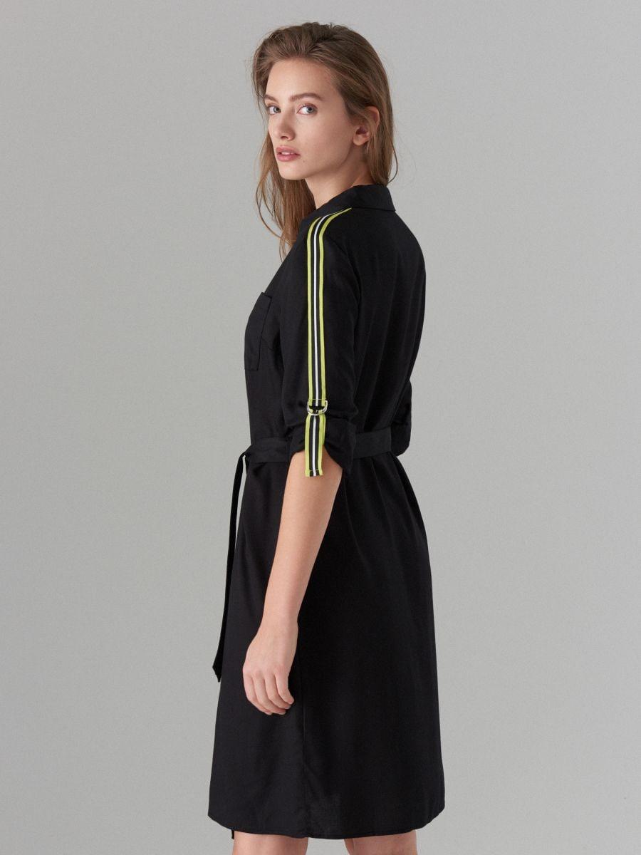 Kreklkleita ar svītrām sānos - melns - WK313-99X - Mohito - 5