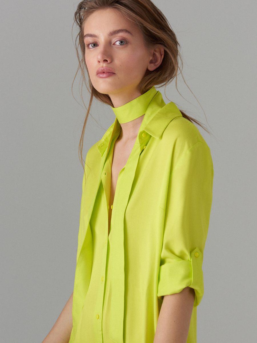 Kreklkleita ar jostu Fluo  - dzeltens - WK314-11X - Mohito - 3