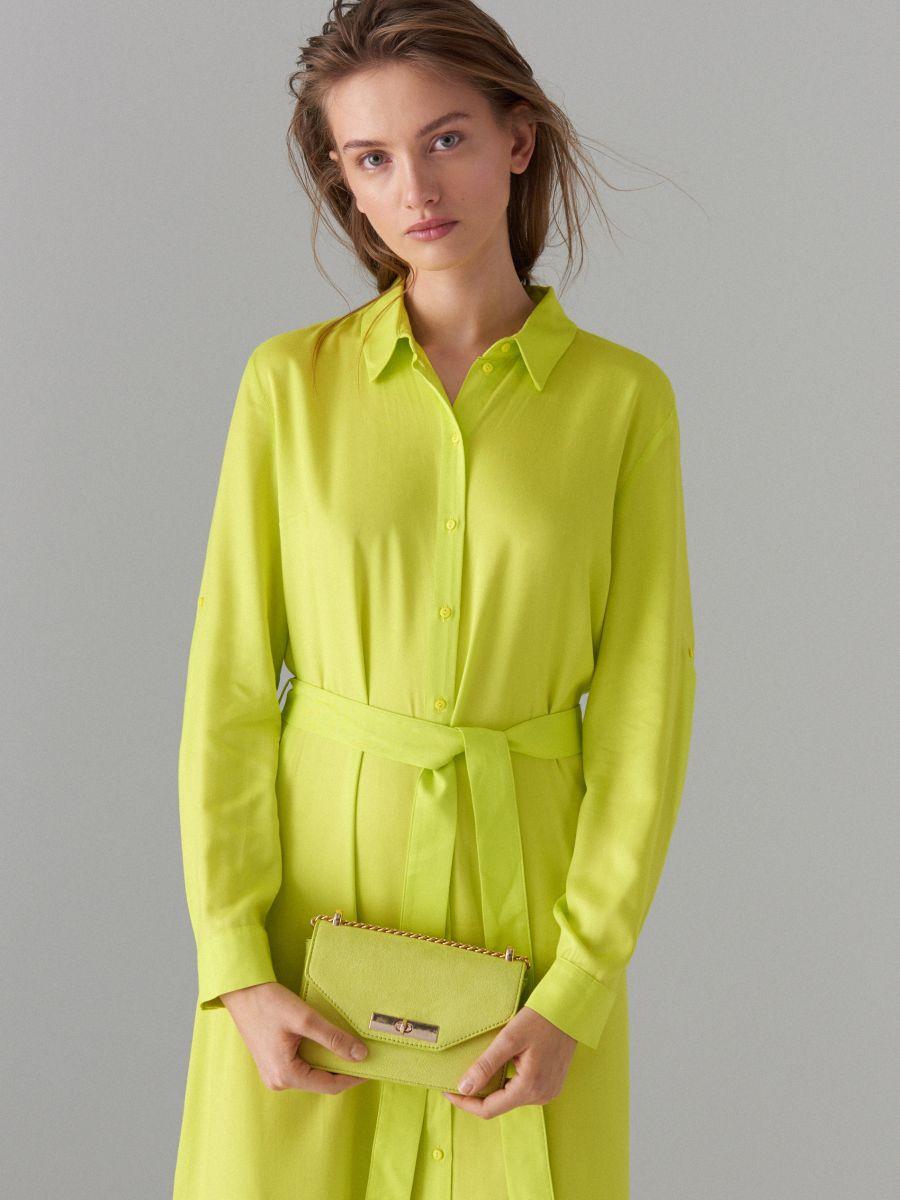 Kreklkleita ar jostu Fluo  - dzeltens - WK314-11X - Mohito - 2
