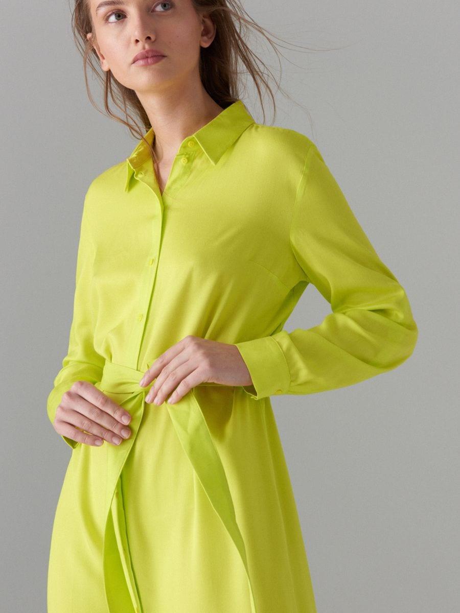 Kreklkleita ar jostu Fluo  - dzeltens - WK314-11X - Mohito - 5