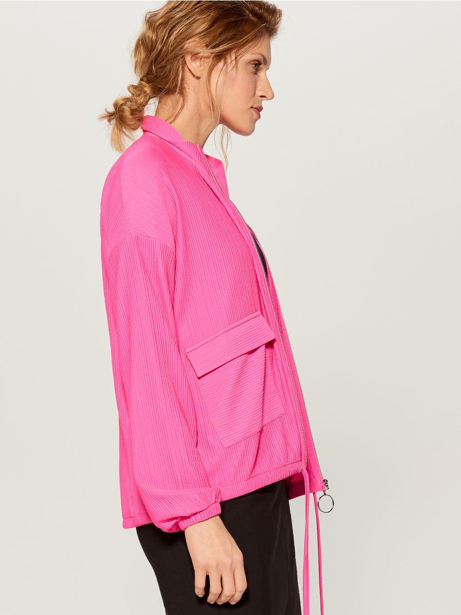 Blūze ar ielocēm un stāvapkaklīti - rozā - WL226-42X - Mohito - 6