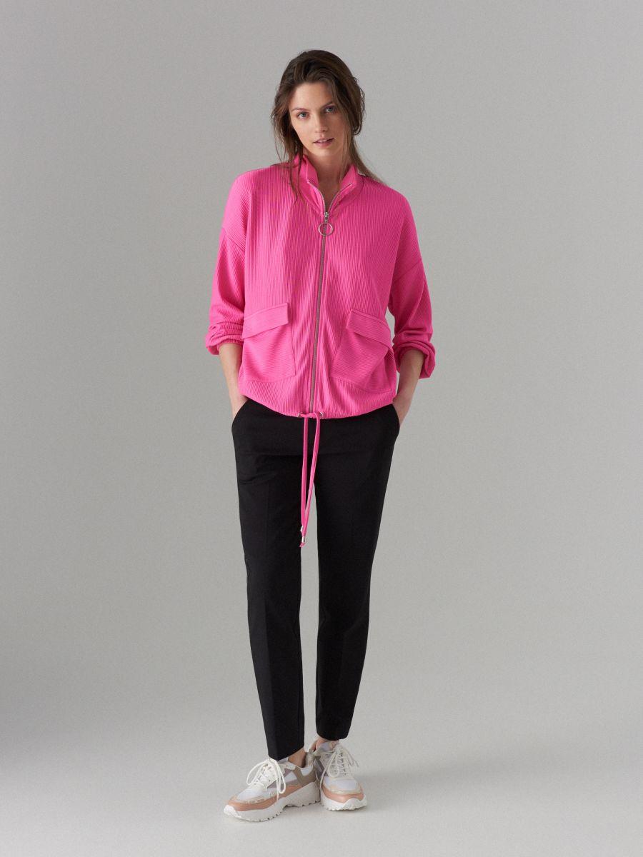 Blūze ar ielocēm un stāvapkaklīti - rozā - WL226-42X - Mohito - 1