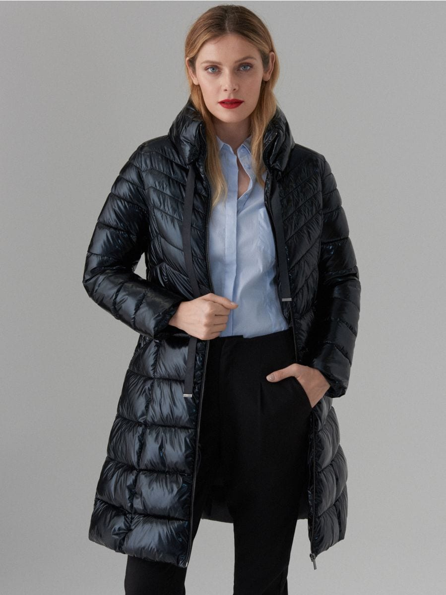 płaszcz kurtki czarny w mohito