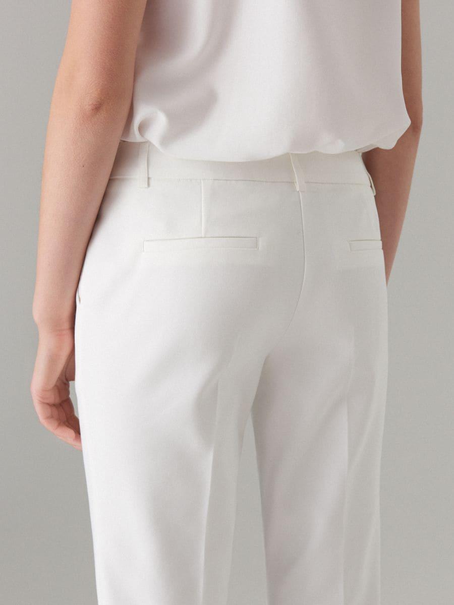 Cigaretové nohavice - biela - WT864-00X - Mohito - 4