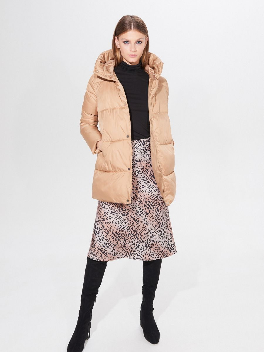 Pikowana kurtka z rękawiczkami, MOHITO, XH205 80X