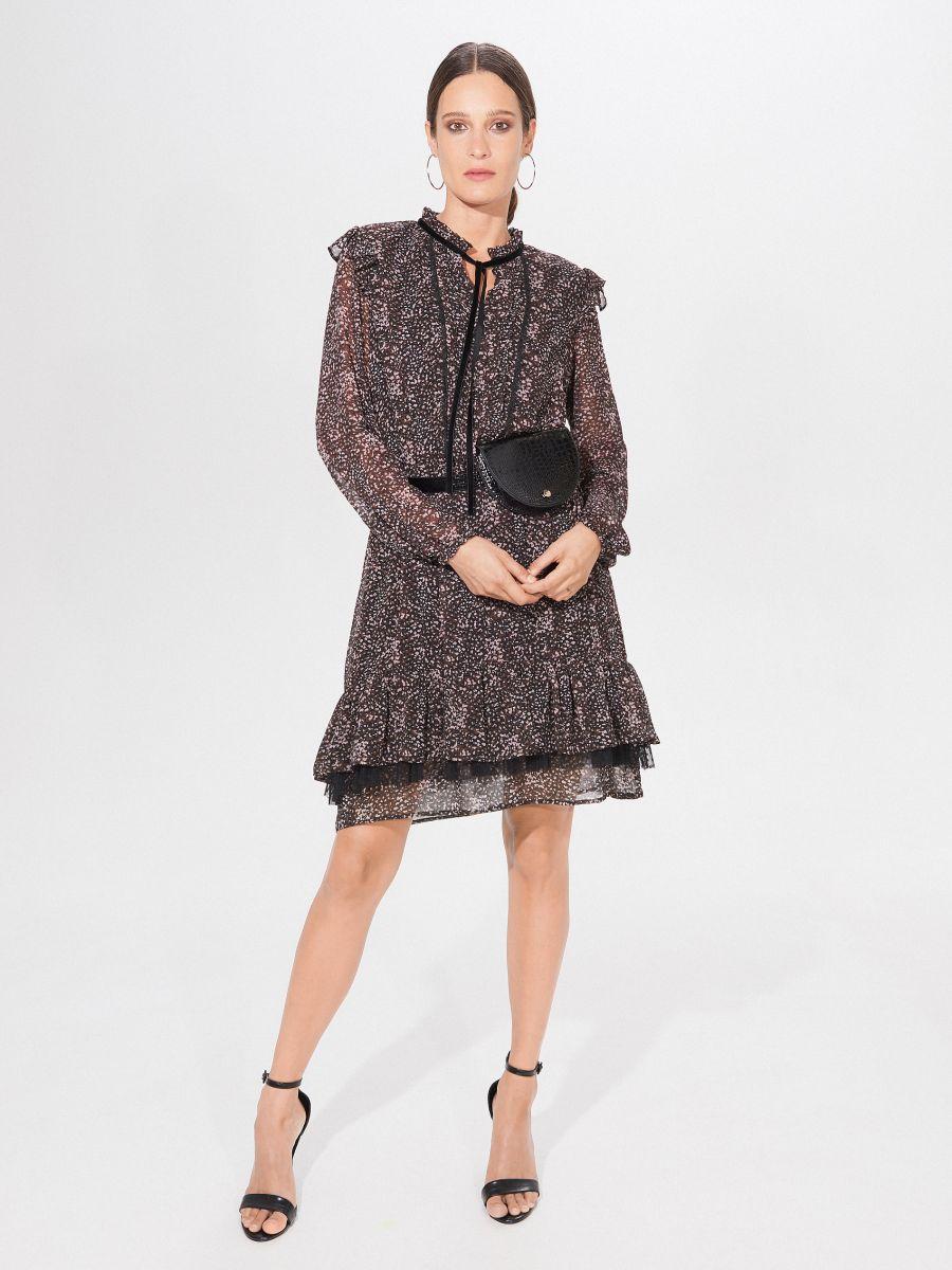 Chiffon Dress With Flounce Mohito Xh381 99p