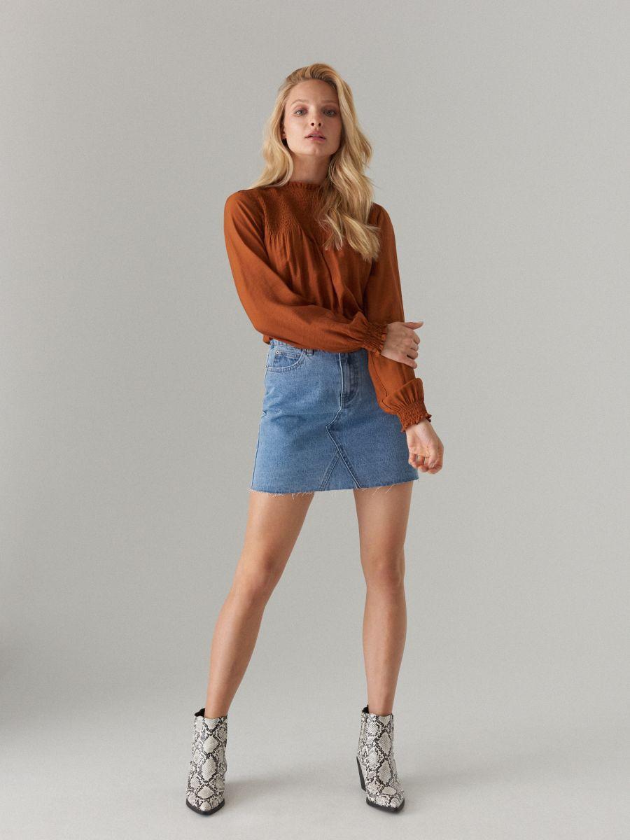 reasonable price great look 100% genuine Denim mini skirt, MOHITO, XH502-50J
