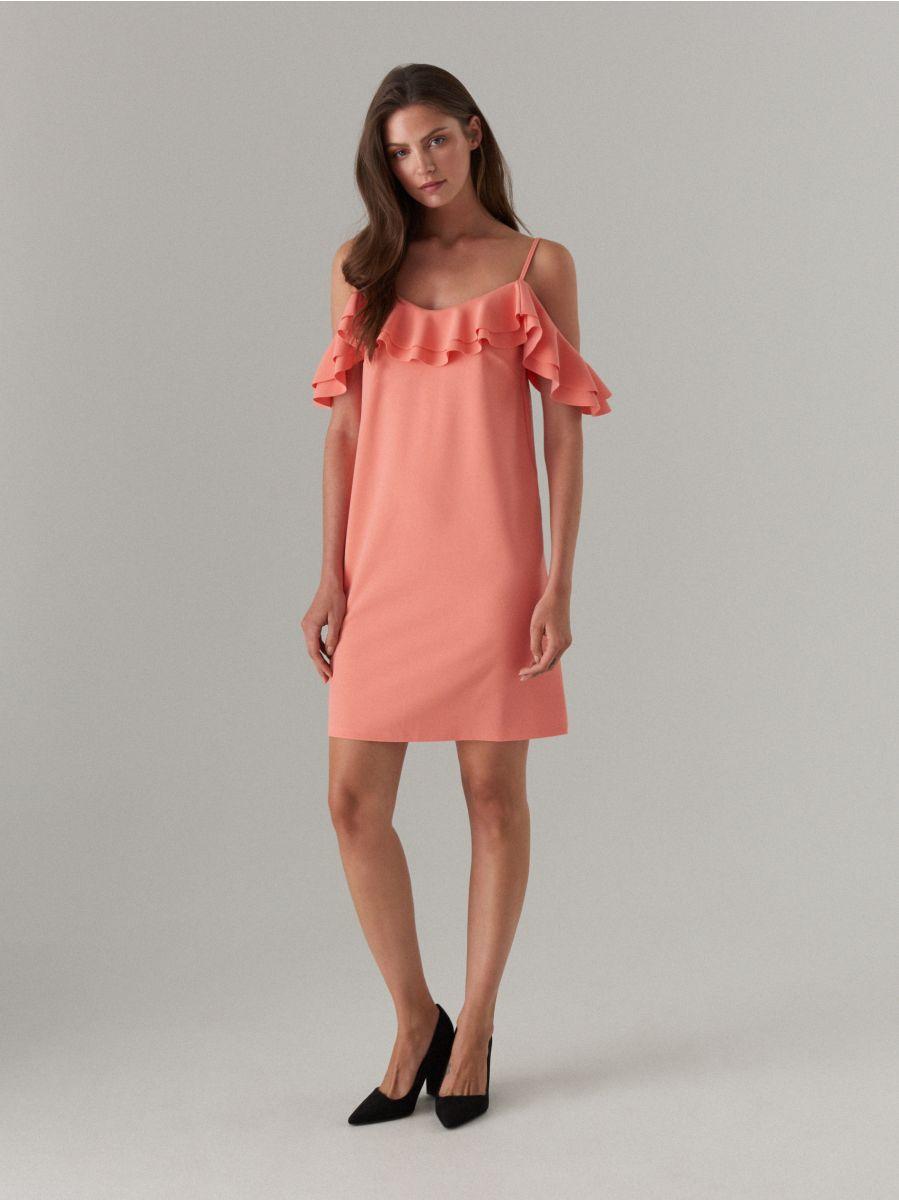 Sukienka hiszpanka na ramiączkach, MOHITO, XO501 32X