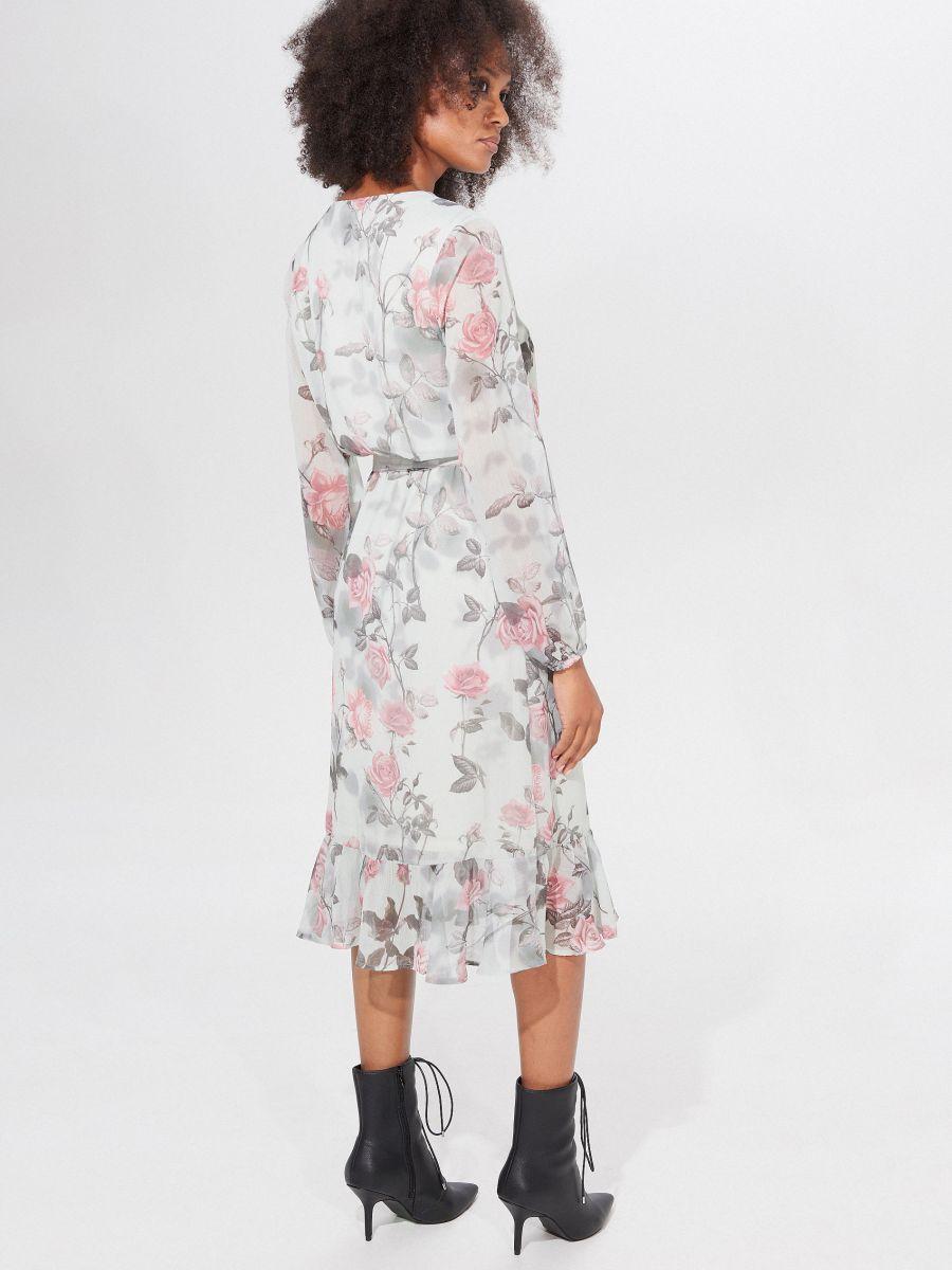Midi sukienka w kwiaty, MOHITO, XZ295 65P