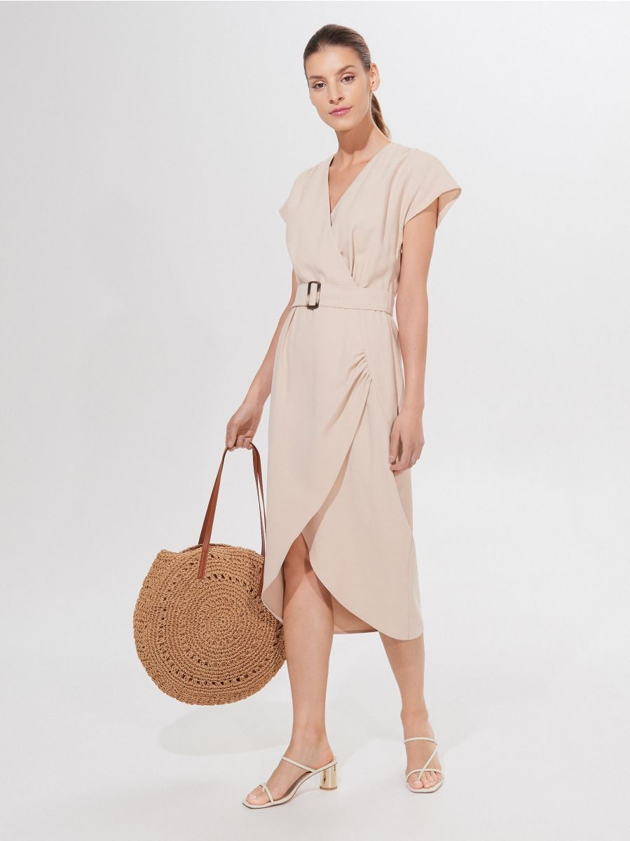 Sukienka midi z paskiem, MOHITO, YK623 08X