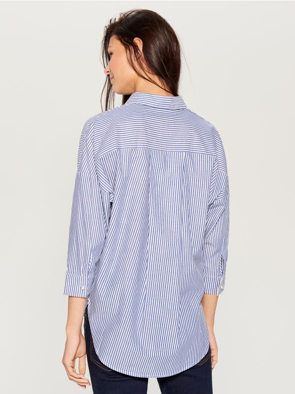 Svītrains krekls - zils - UF420-05X - Mohito - 5