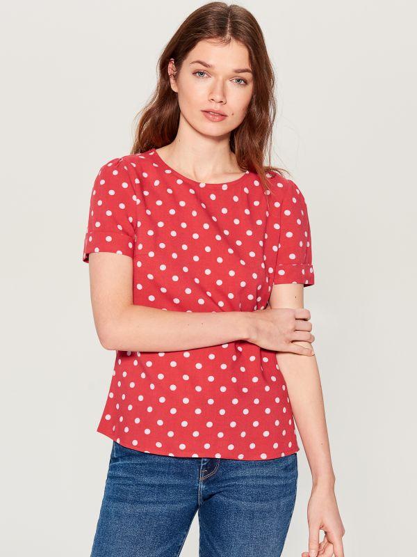 T-krekls Basic - sarkans - UK239-33X - Mohito - 1