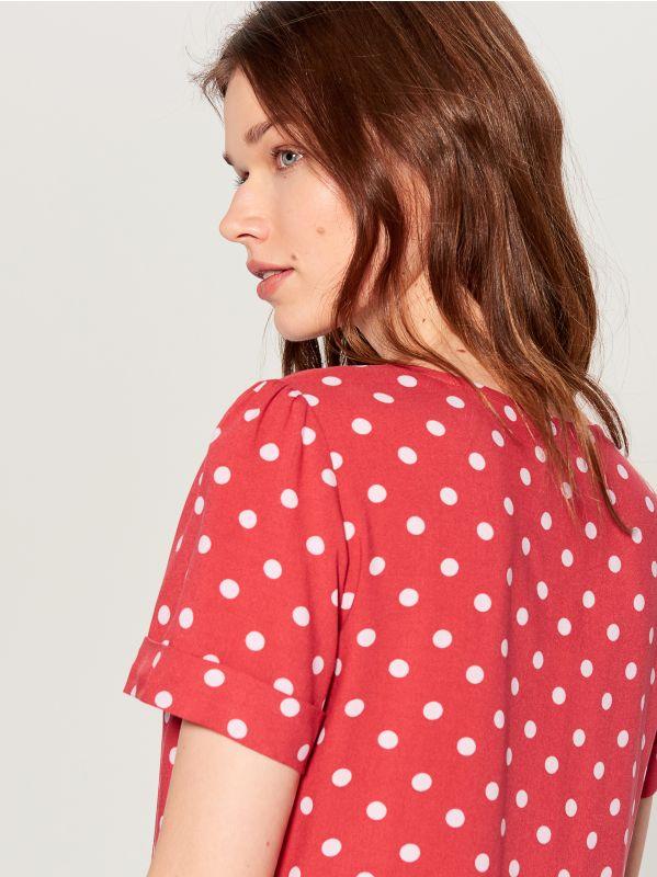 T-krekls Basic - sarkans - UK239-33X - Mohito - 2