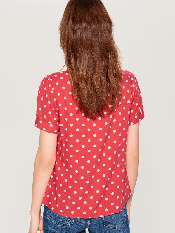 T-krekls Basic - sarkans - UK239-33X - Mohito - 3