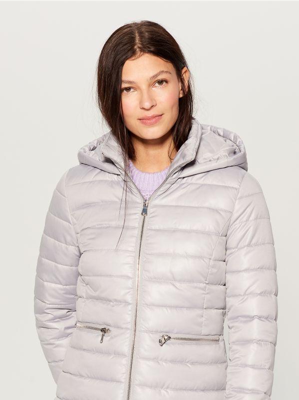 Stepēta jaka ar kapuci - gaiši pelēks - UN247-09X - Mohito - 3