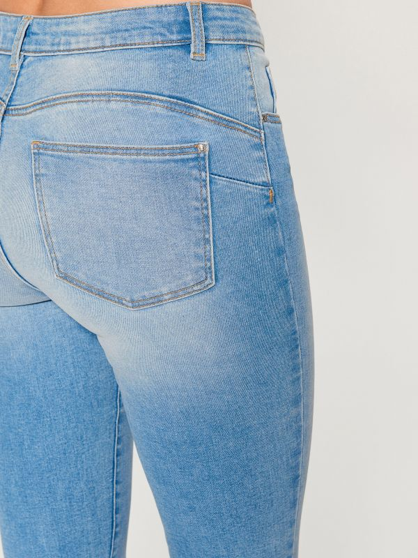 Džinsa bikses skinny push up - zils - UR526-05J - Mohito - 5