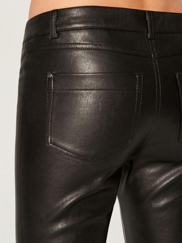 Mākslīgās ādas bikses skinny  - melns - VA808-99X - Mohito - 6