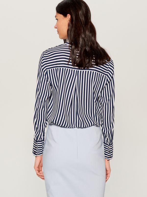 Krekls ar smalku rakstu - zils - VB653-95P - Mohito - 5