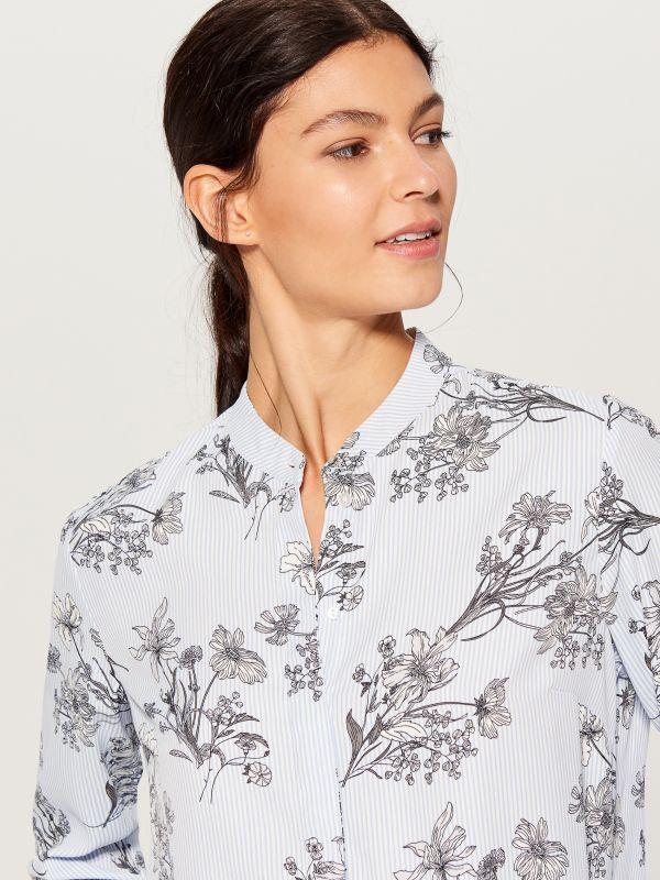 Krekls ar smalku rakstu - daudzkrāsains - VB653-MLC - Mohito - 1