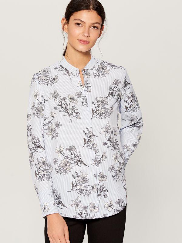 Krekls ar smalku rakstu - daudzkrāsains - VB653-MLC - Mohito - 2