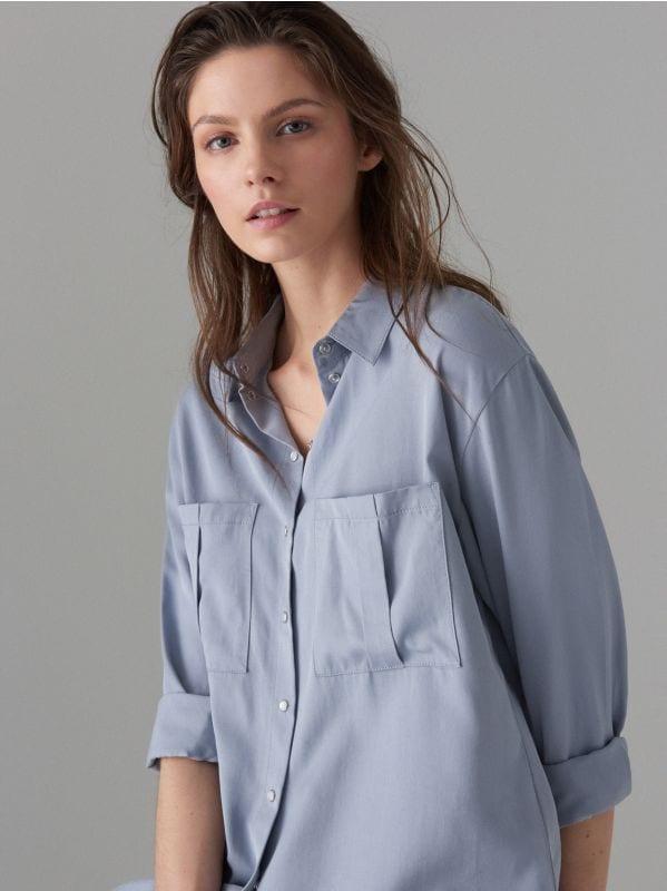 Liocela krekls - zils - VB654-05X - Mohito - 1