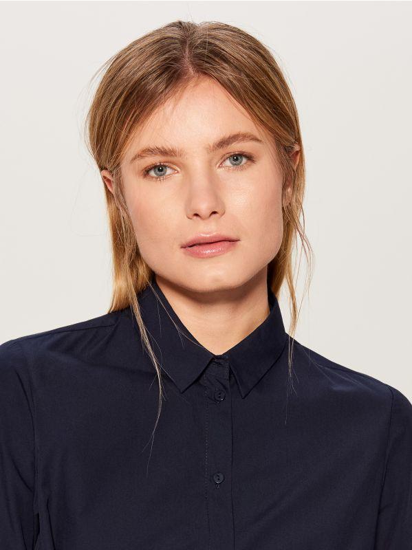 Sasienama kreklveida kleita - zils - VD247-95P - Mohito - 2