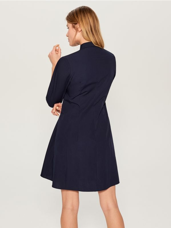 Sasienama kreklveida kleita - zils - VD247-95P - Mohito - 4