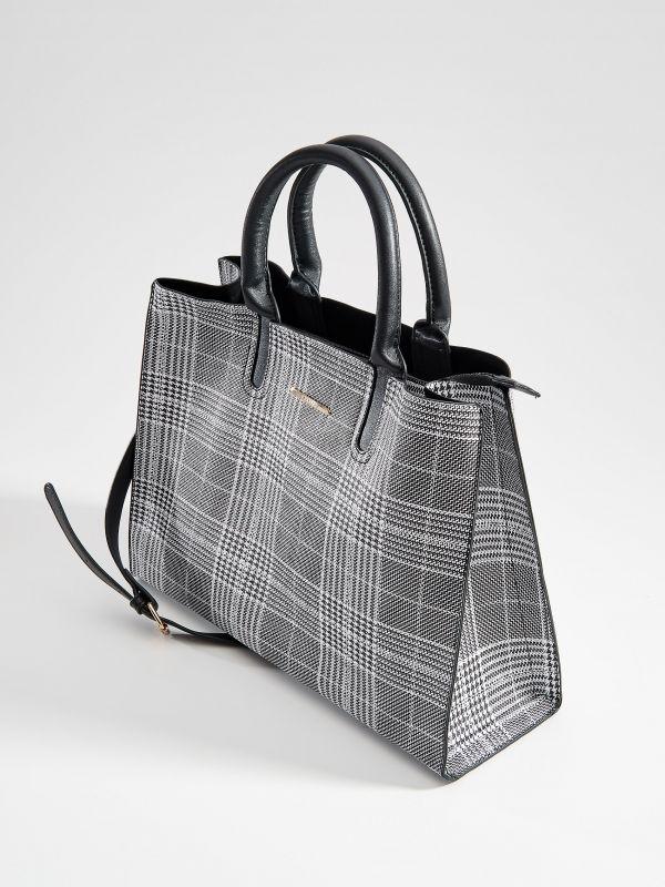 Shopper stila soma ar rūtainu zosu kājiņu rakstu  - daudzkrāsains - VD476-MLC - Mohito - 2