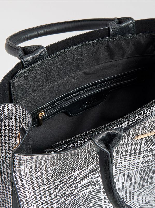 Shopper stila soma ar rūtainu zosu kājiņu rakstu  - daudzkrāsains - VD476-MLC - Mohito - 5