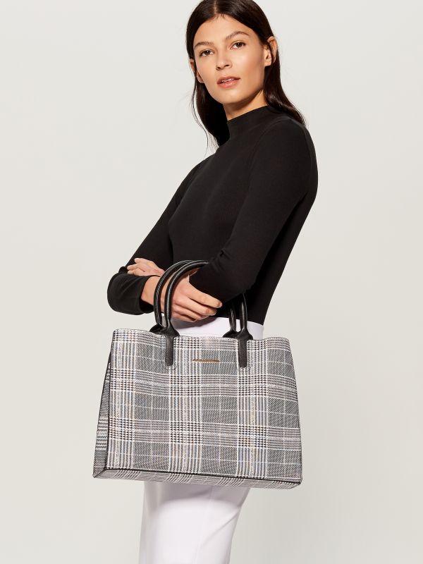 Shopper stila soma ar rūtainu zosu kājiņu rakstu  - daudzkrāsains - VD476-MLC - Mohito - 1